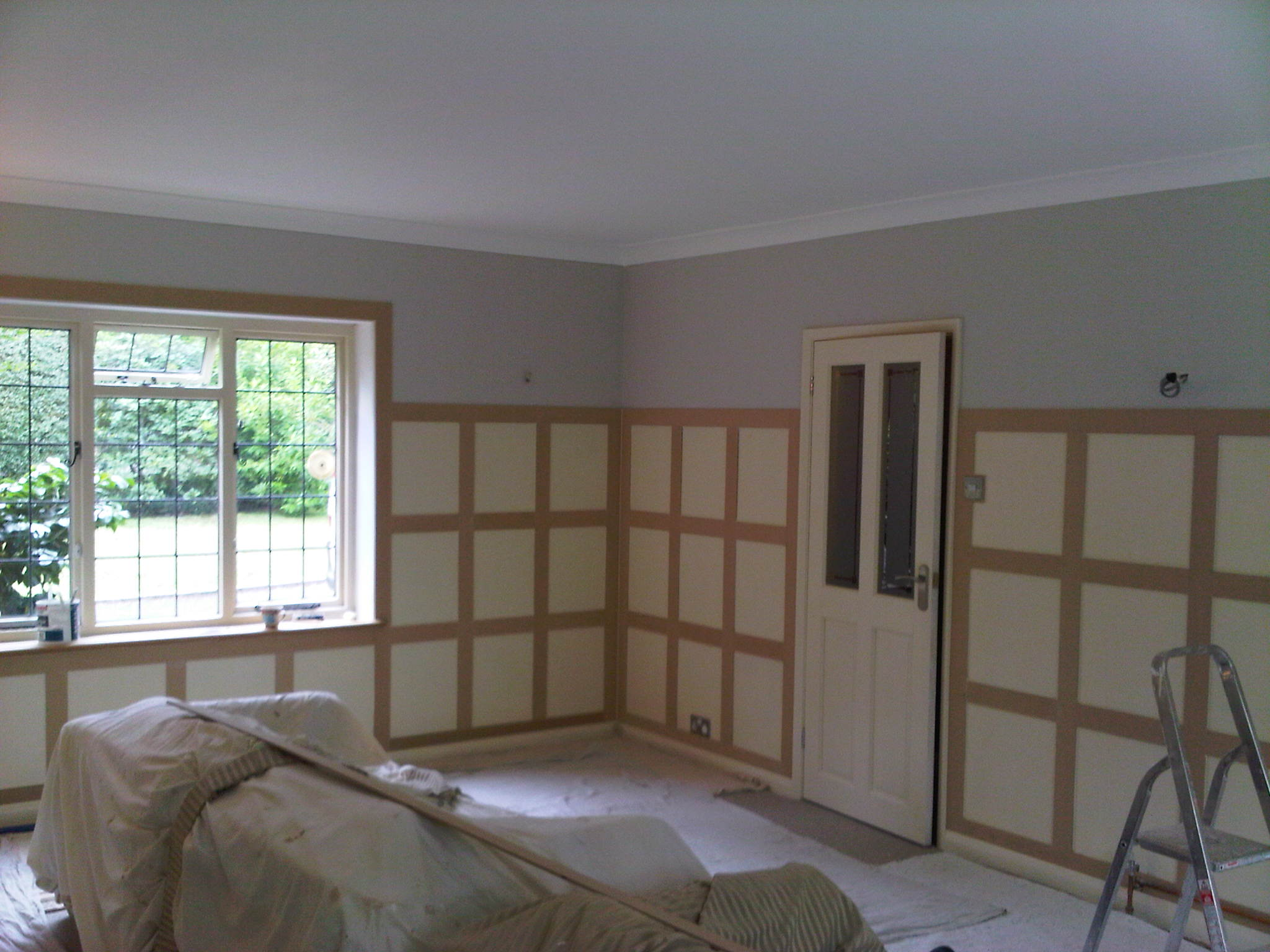 Plastering before
